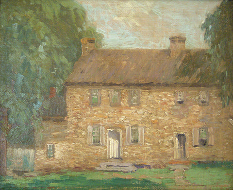 "Kenneth R. Nunamaker (American, 1890-1957), ""Stone House, Tuckamony Farm"", oil on canvas laid down on board, signed, 20th century"