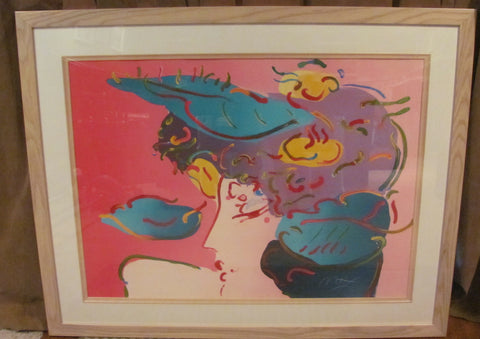 "Peter Max (German/American, b. 1937), ""Flower Spectrum"", screenprint in colors, 1990, signed and numbered 115/150"