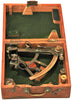 "American Oxidized Brass ""T"" Framed Nautical Sextant"