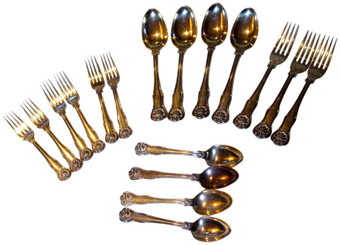 Group of William IV Silver Flatware