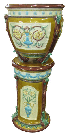Wedgwood Majolica Two Part Jardinière