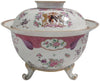 French Porcelain Footed Armorial Bowl with Cover