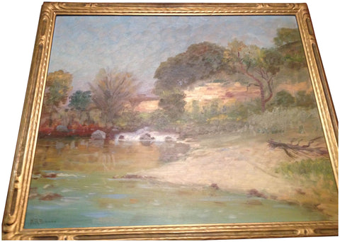 Nicholas Richard Brewer (American, 1857-1949), Landscape, oil on board, signed