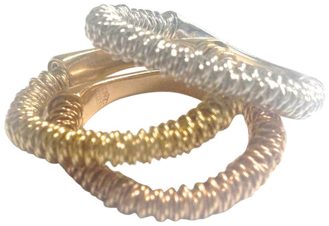 Three Orlando Orlandini 18K Tri-Color Gold Bands