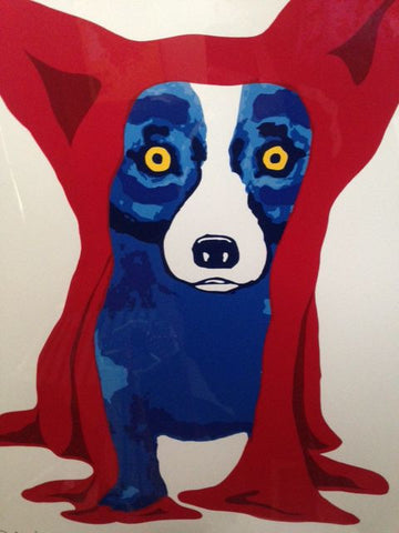 "George Rodrigue (American, 1944-2013), ""Hiding My Blues from You"", screenprint in colors with acrylic, signed"