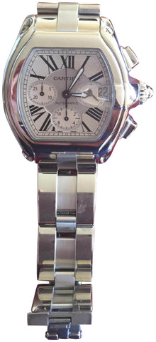 Cartier Stainless Steel Automatic Chronograph Wristwatch