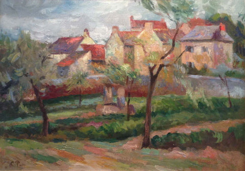 French Country Village Scene