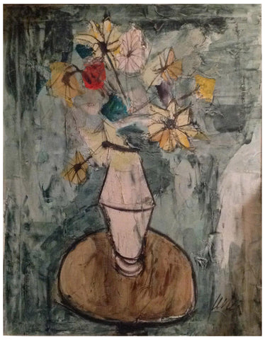 Charles Levier (French, 1920-2003), Floral Still Life, oil on canvas, signed