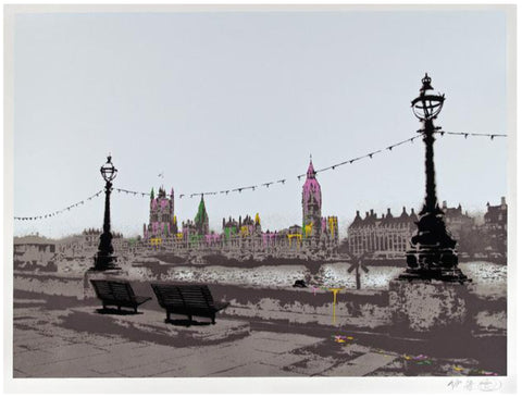 "Nick Walker (British, b. 1969), ""The Morning After (London Version)"", silkscreen in colors, ed. AP 10/12, 2007"