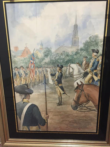 "Frank Thayer Merrill (American, 1848-1923), ""Scenes of George Washington's Life"", four watercolors, ca. first quarter 20th century, each signed"