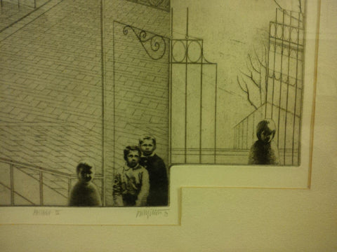 "Peter Winslow Milton (American, b. 1930), ""Passage IV"", 1973, etching and engraving, state proof # 22, 5/6, signed, titled"