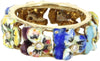 14K Yellow Gold, Diamond and Enamel Pansy Ring