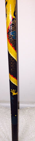 Chinese Sword in a Cloisonne Walking Cane Sheath, ca. 20th century