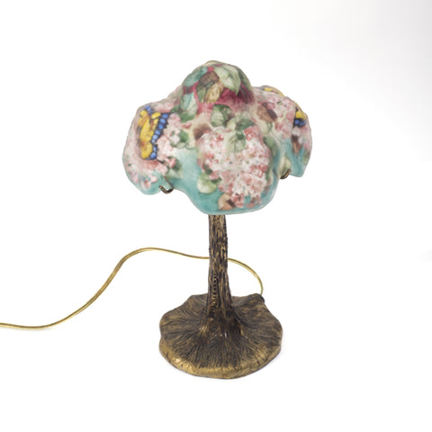 "American Pairpoint ""Puffy"" Butterfly Boudoir Lamp, New Bedford, Massachusetts, 20th century"