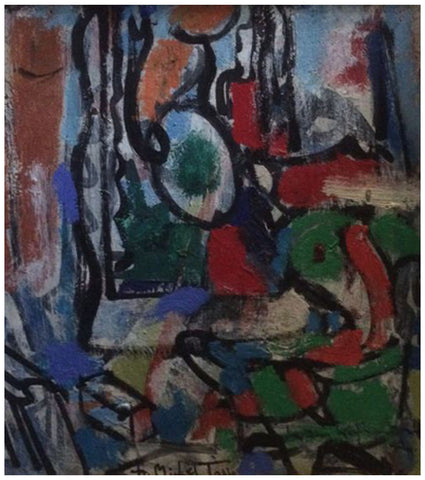 Hans Hofmann (German/American, 1880-1966), Untitled (to Michel TapiŽ), 1942, oil on board, signed and inscribed