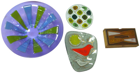 Four Pieces of American Mid-Century Modern Art Glass
