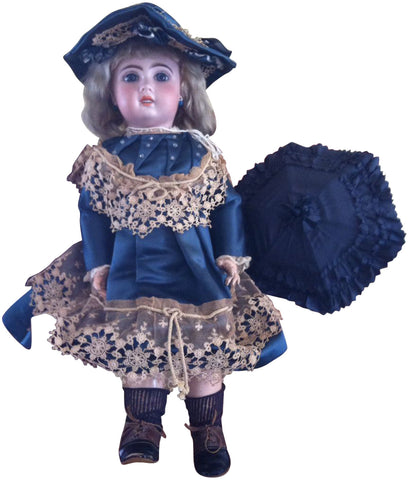 French Tete Jumeau Bisque Doll