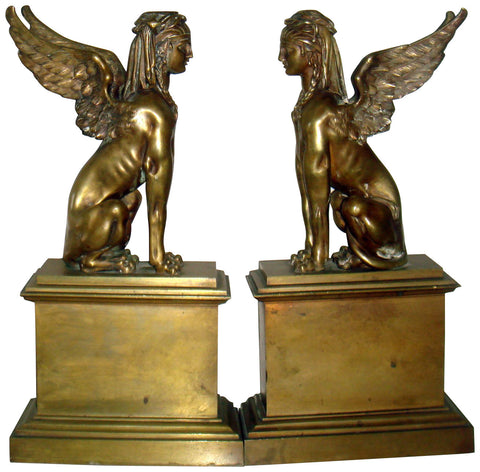 Pair of Continental Bronze Bookends