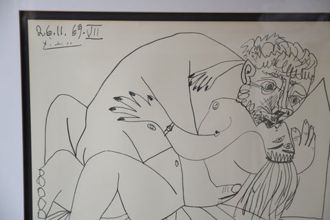 "After Pablo Picasso (Spanish, 1881-1973), ""L'Etreinte VII"", 1969, lithograph on Arches paper, published by Mourlot"