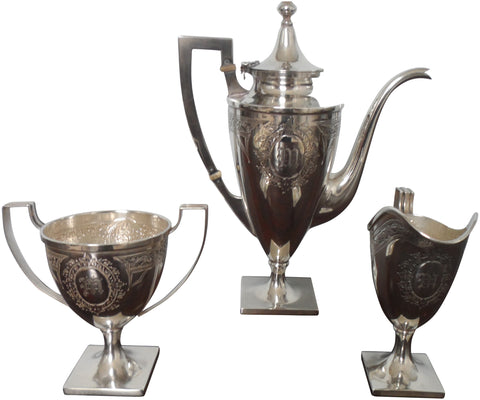 American Silver Three Piece Coffee Service