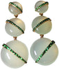 18K Rose Gold, Green Quartz, and Tsavorite Pendant Earrings