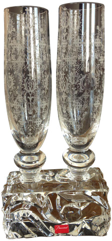 "Baccarat ""Forest of Dreams"", Two Vases"