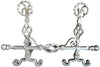 Pair of Silvered Wrought Iron Fire-Dogs