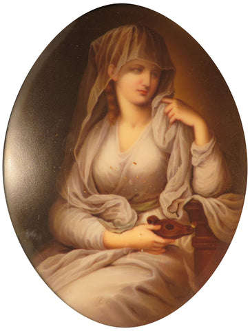 Berlin (K.P.M.) Porcelain Plaque of the Duchess of Devonshire