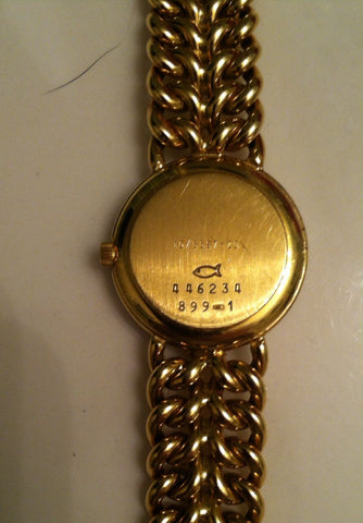 Ladies 18K Yellow Gold & Diamond Watch & Bracelet, Chopard, Geneva, Switzerland, 1990s