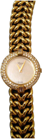 Ladies 18K Yellow Gold & Diamond Watch & Bracelet