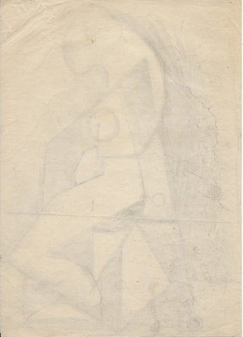 Hans Gustav Burkhardt (American, 1904-1994), Abstract Study, 1935, charcoal on paper, signed and dated