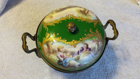 Ormulu Mounted Sevres Style Porcelain Potpourri Bowl, early 20th century