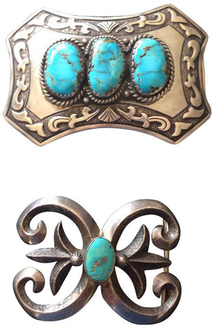 Two Native American Buckles