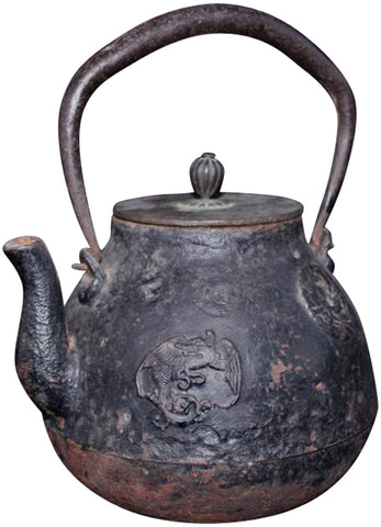 Japanese Cast Iron Teapot (Tetsubin) with Lid