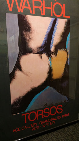 "Exhibition Poster After Andy Warhol (American, 1928-1987), ""Torsos"", Ace Gallery, Paris, 1977, offset lithograph"