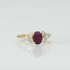 18K Yellow Gold, Ruby, and Diamond Ring, ca. 1980s, H. Stern, New York