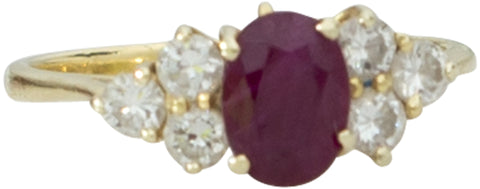 H. Stern 18K Yellow Gold, Ruby, and Diamond Ring