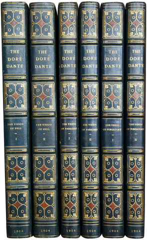 """Doré Dante"", Three Books in Six Volumes"