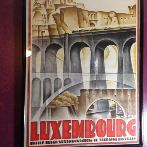 Harry Rabinger (Luxembourgeois, 1895-1966), Grand-Duchy of Luxembourg, lithographic poster printed in colors, 20th century