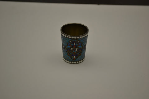 Russian Silver-Gilt and Enamel Small Beaker, Moscow, 1896