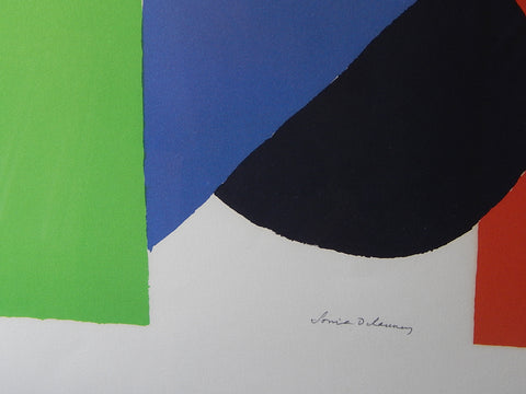 "Sonia Delaunay (French, b. Russia, 1885-1979), ""Nocturne Matinale"", ca. 1970, color lithograph, signed and numbered"