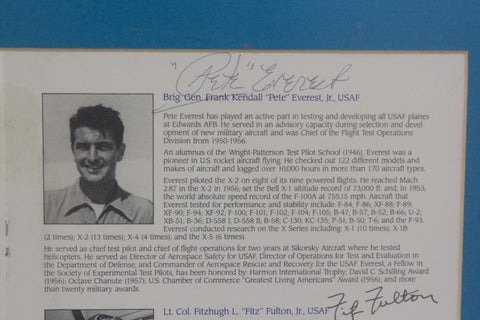"Neil Armstrong, Fitz Fulton, and Pete Everest Autographs, Program for the ""Aerospace Walk of Honor"", 1991"