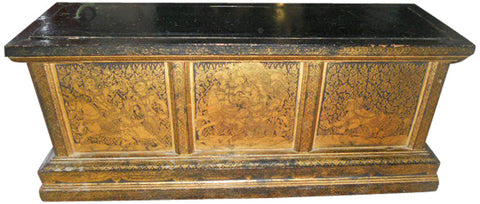 Thai Gilt Lacquer Sutra Box and Sutra