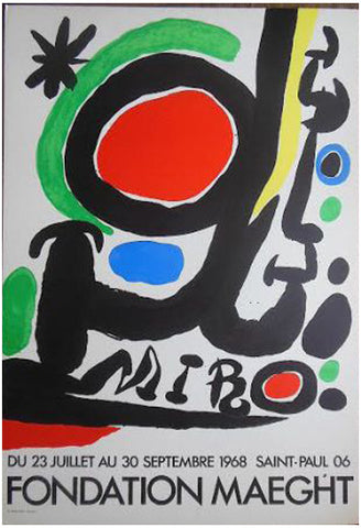Exhibition Poster, Joan Miró, Fondation Maeght