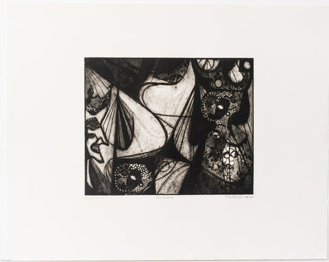 "Sue Fuller (American, 1914-2006) ""Sorceress"", soft-ground etching, 1948, printed in 1985, on wove paper, signed"