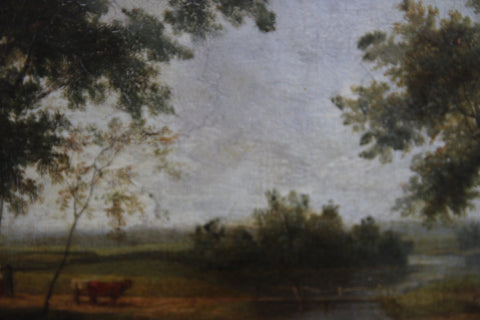 English School (19th Century), Landscape, oil on canvas