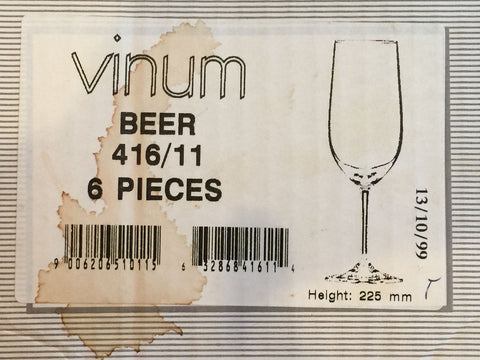 Set of Twelve Early Riedel Vinum Stemmed Beer Glasses, No. 416/11, ca. 1999 and 2001, fully marked