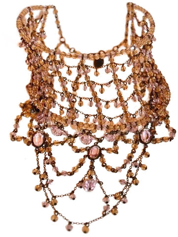 Erickson Beamon Beaded and Wire Collar Necklace