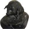 Patinated Bronze Figural Sculpture of a Hog on Marble Plinth