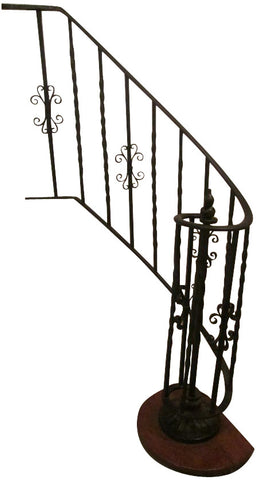 Wrought Iron Partial Spiral Balustrade